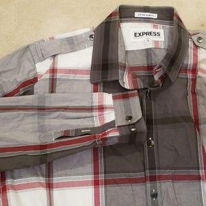 Men long sleeve botton down shirt